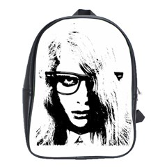 Hipster Zombie Girl School Bag (large)