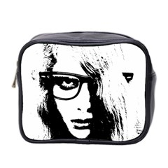 Hipster Zombie Girl Mini Travel Toiletry Bag (Two Sides)