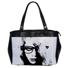 Hipster Zombie Girl Oversize Office Handbag (one Side)