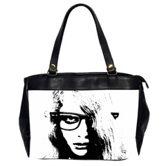 Hipster Zombie Girl Oversize Office Handbag (Two Sides)