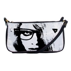 Hipster Zombie Girl Evening Bag
