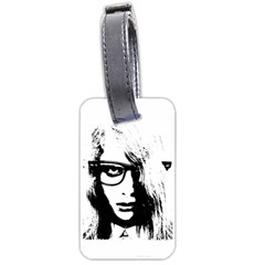 Hipster Zombie Girl Luggage Tag (One Side)