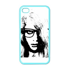 Hipster Zombie Girl Apple Iphone 4 Case (color)