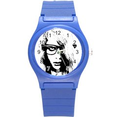 Hipster Zombie Girl Plastic Sport Watch (Small)