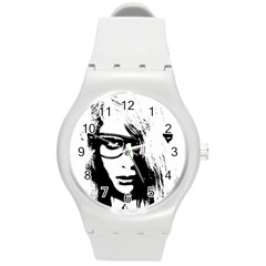 Hipster Zombie Girl Plastic Sport Watch (Medium)