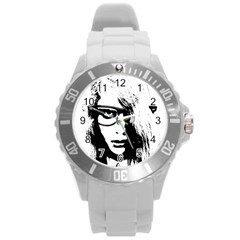 Hipster Zombie Girl Plastic Sport Watch (Large)