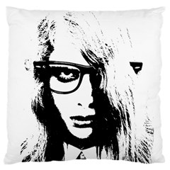 Hipster Zombie Girl Large Cushion Case (Two Sided)
