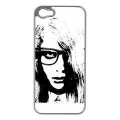 Hipster Zombie Girl Apple iPhone 5 Case (Silver)