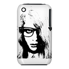 Hipster Zombie Girl Apple iPhone 3G/3GS Hardshell Case (PC+Silicone)