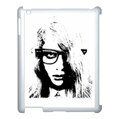 Hipster Zombie Girl Apple iPad 3/4 Case (White)