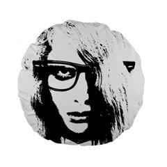 Hipster Zombie Girl 15  Premium Round Cushion