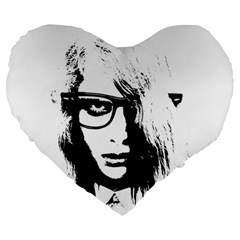 Hipster Zombie Girl 19  Premium Heart Shape Cushion