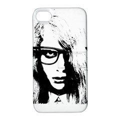 Hipster Zombie Girl Apple iPhone 4/4S Hardshell Case with Stand