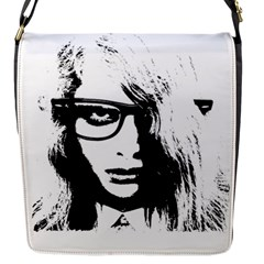 Hipster Zombie Girl Flap Closure Messenger Bag (Small)