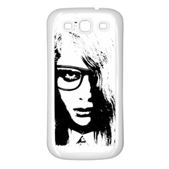 Hipster Zombie Girl Samsung Galaxy S3 Back Case (White)
