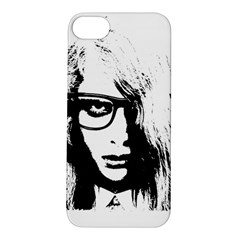 Hipster Zombie Girl Apple iPhone 5S Hardshell Case