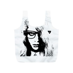 Hipster Zombie Girl Reusable Bag (S)