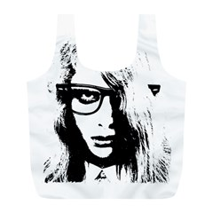Hipster Zombie Girl Reusable Bag (l)