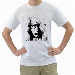 Hipster Zombie Girl Men s T Shirt (white)