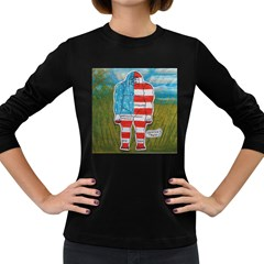 Painted Flag Big Foot Austral Women s Long Sleeve T-shirt (Dark Colored)