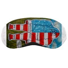 Painted Flag Big Foot Austral Sleeping Mask