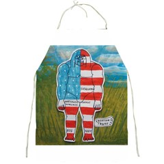 Painted Flag Big Foot Austral Apron