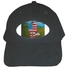 Painted Flag Big Foot Homo Erec Black Baseball Cap