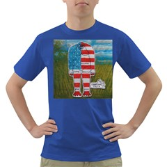 Painted Flag Big Foot Homo Erec Men s T-shirt (Colored)