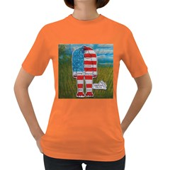 Painted Flag Big Foot Homo Erec Women s T-shirt (Colored)