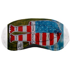 Painted Flag Big Foot Homo Erec Sleeping Mask