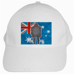 Big Foot A, Australia Flag White Baseball Cap