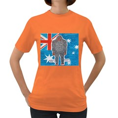 Big Foot A, Australia Flag Women s T-shirt (Colored)