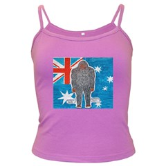Big Foot A, Australia Flag Spaghetti Top (colored)