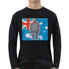 Big Foot A, Australia Flag Men s Long Sleeve T-shirt (Dark Colored)