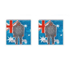 Big Foot A, Australia Flag Cufflinks (Square)