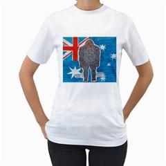 Big Foot A, Australia Flag Women s T-Shirt (White)