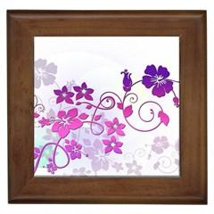 Floral Garden Framed Ceramic Tile