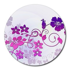 Floral Garden 8  Mouse Pad (Round)