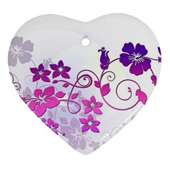 Floral Garden Heart Ornament