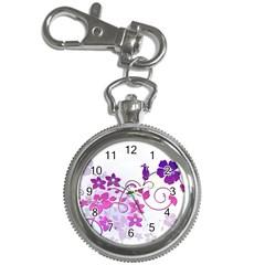 Floral Garden Key Chain Watch
