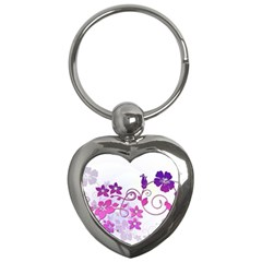 Floral Garden Key Chain (Heart)