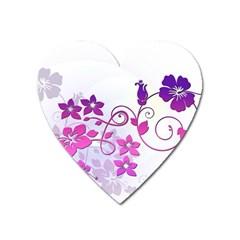 Floral Garden Magnet (heart)
