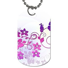 Floral Garden Dog Tag (two Sided)