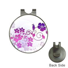 Floral Garden Hat Clip with Golf Ball Marker