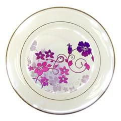Floral Garden Porcelain Display Plate