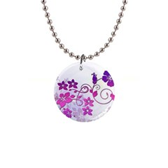 Floral Garden Button Necklace