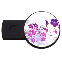 Floral Garden 4GB USB Flash Drive (Round)