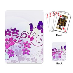 Floral Garden Playing Cards Single Design
