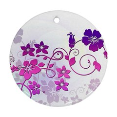 Floral Garden Round Ornament (Two Sides)