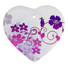 Floral Garden Heart Ornament (Two Sides)
